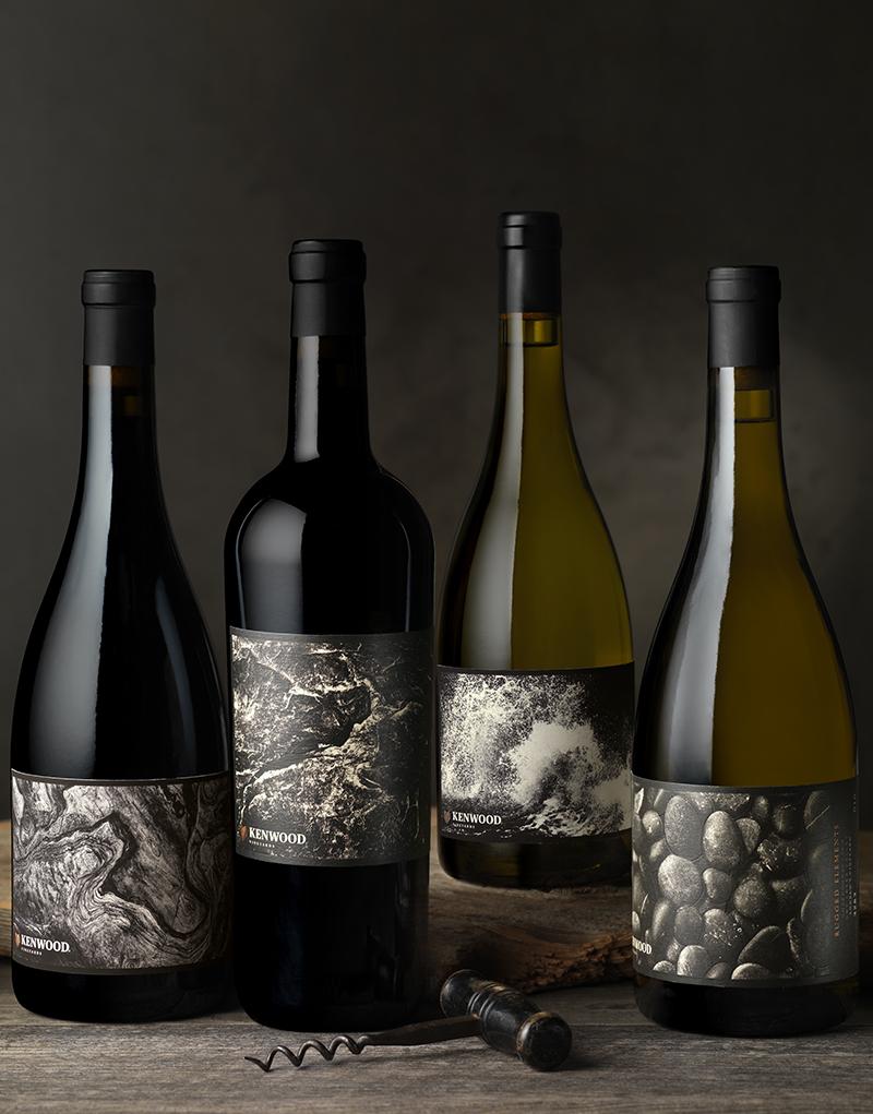 Kenwood Vineyards Rugged Elements Wine Packaging Design & Logo