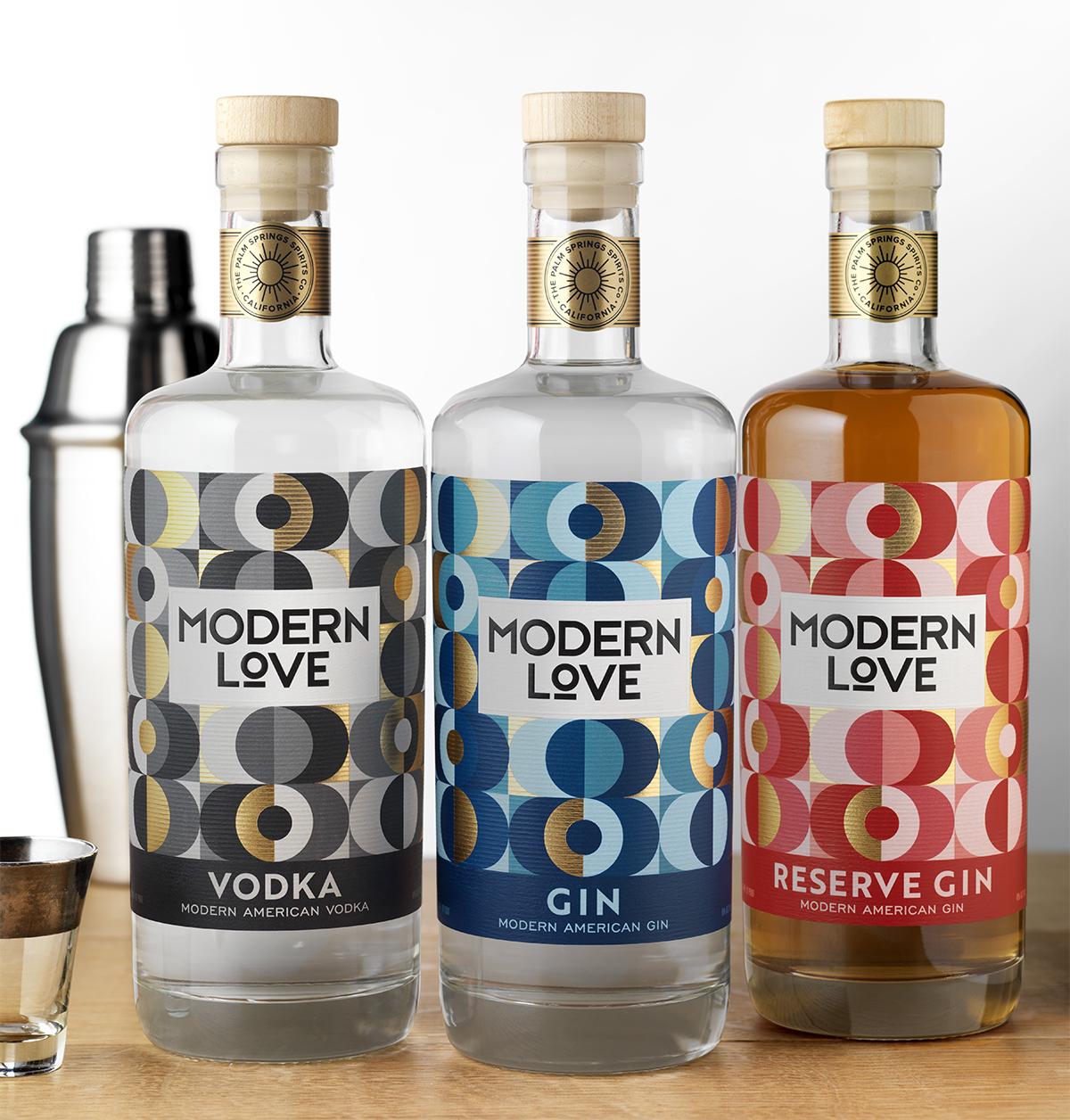 Modern Love Spirits Packaging Design & Logo